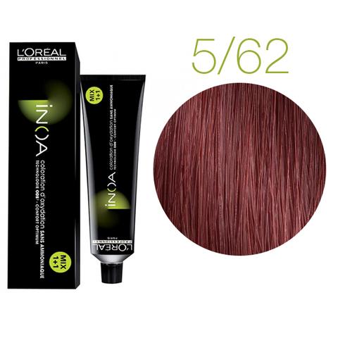L'Oreal Professionnel INOA Carmilane 5.62 (Светлый шатен красный перламутровый) - Краска для волос