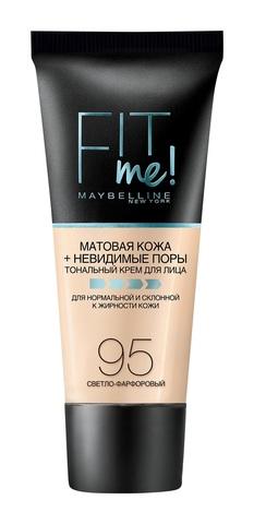Maybelline Fit Me тональный крем матовая кожа + невидимые поры №  95 светло-фарфор