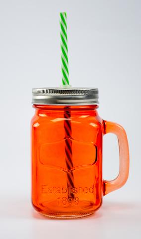 Баночка для смузи и коктейлей, оранжевая