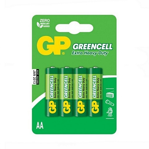 Батарейки GP 15G-U4 Greencell R6, АА, блистер 40/200/1000