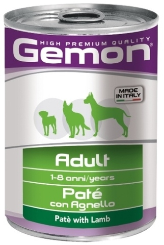 Gemon Dog Adult Pate with Lamb