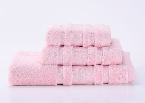 Bamboo PR-5  нежно-розовое бамбуковое махровое  полотенце Valtery