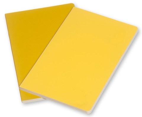 Набор 2 блокнота Moleskine Volant Pocket, цвет желтый, в линейку