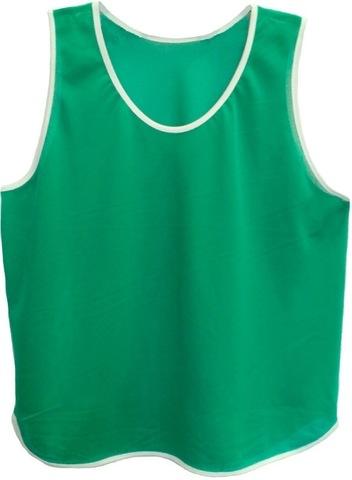 Манишка футбольная, ткань аналог Lotto, трикотаж сетка 160 гр., зеленая