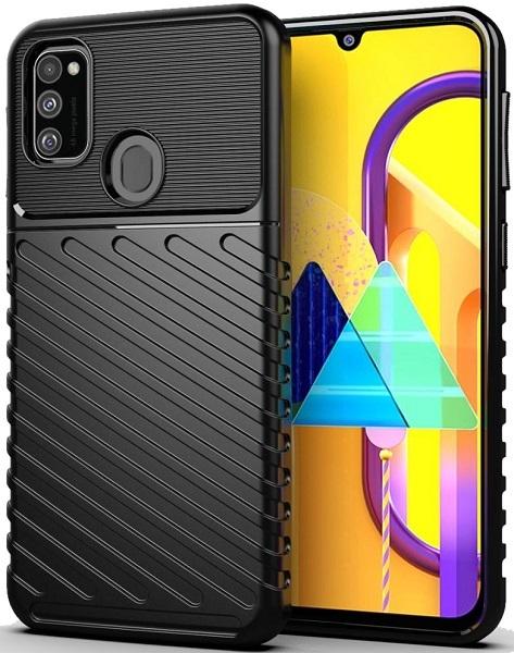 Чехол Samsung Galaxy M30S цвет Black (черный), серия Onyx, Caseport