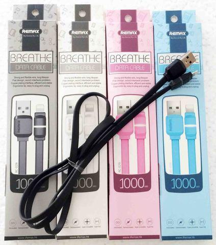 Кабель ReMax Breathe iPhone5, RC-029i 1м, color, индикатор