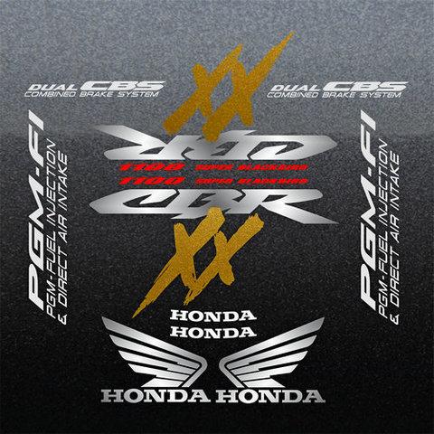Набор виниловых наклеек на мотоцикл HONDA CBR 1100XX 2000