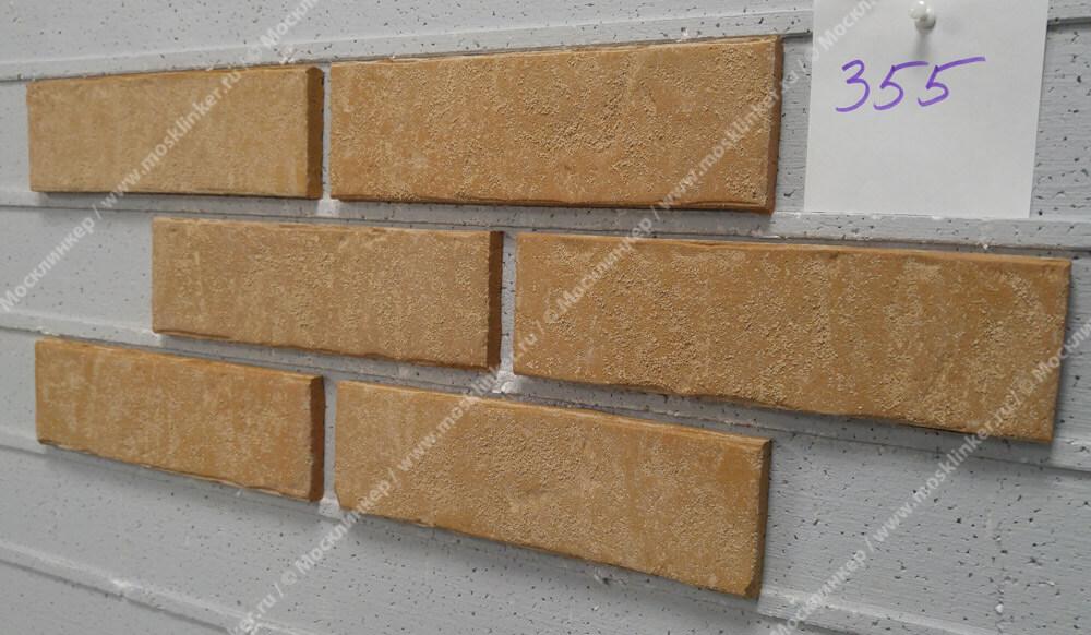 Stroeher - 355 sandschmelz, Zeitlos, состаренная поверхность, ручная формовка, 400x35x14 - Клинкерная плитка для фасада и внутренней отделки