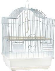 N1 Клетка для птиц 30*23*39 фигурная укомплектованная