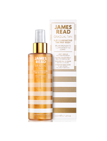 James Read Мерцающий спрей для тела с эффектом автозагара H2O Illuminating Tan Mist Body