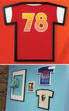 Рамка для футболки на стену t-frame 55 х 50 см, чёрная Umbra 315200-040   Купить в Москве, СПб и с доставкой по всей России   Интернет магазин www.Kitchen-Devices.ru