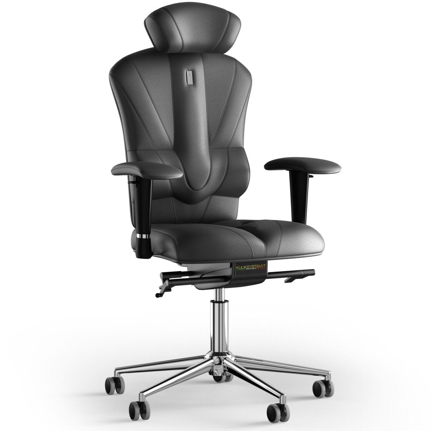 Кресло KULIK SYSTEM VICTORY Кожа с подголовником без строчки