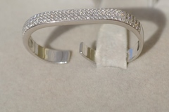 Кольцо на два пальца из серебра открытое