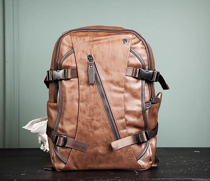 BAG483-2 Повседневный мужской кожаный рюкзак