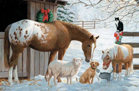Картина раскраска по номерам 40x50 Домашние животные