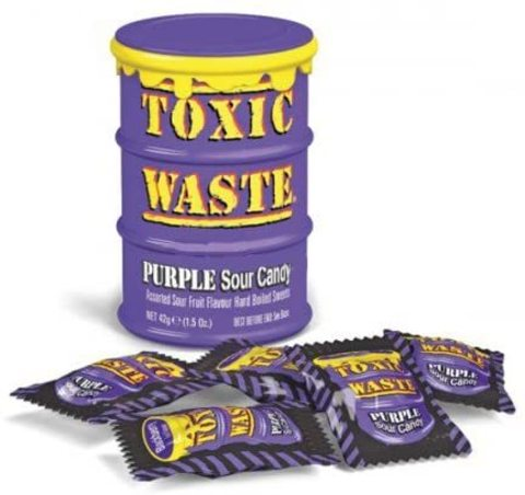 Кислые леденцы Toxic Waste Purple