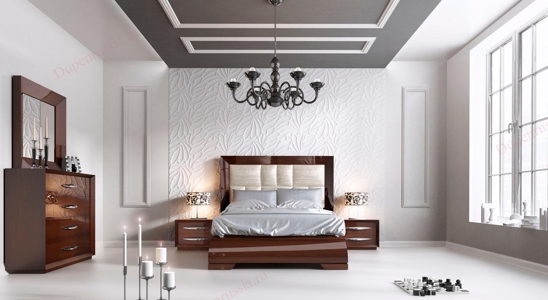 Спальня FRANCO Furniture CARMEN темный орех