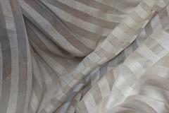 Льняная вуаль - полоска деградэ, цвет : бежевая