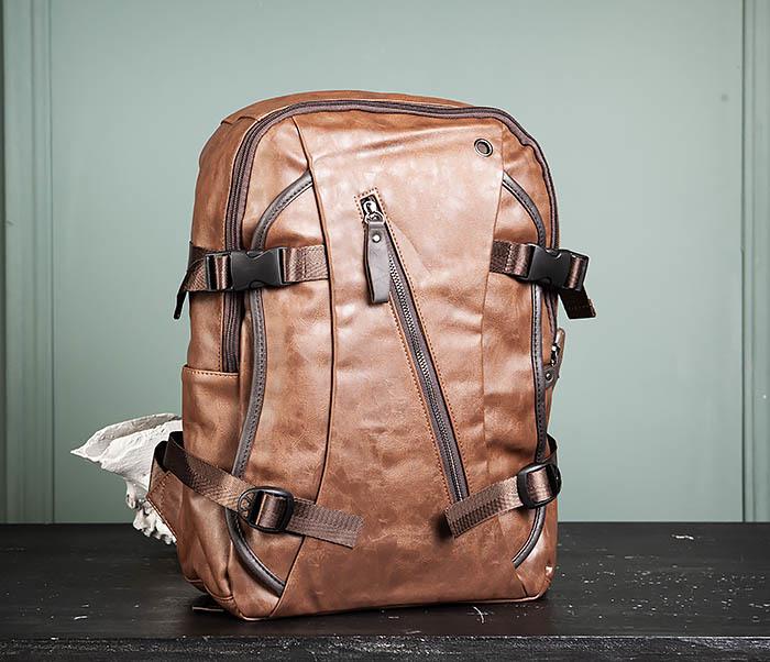 BAG483-2 Повседневный мужской кожаный рюкзак фото 02