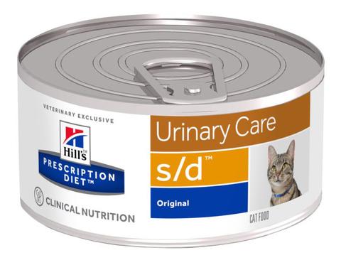 Hill's S/D Диета консервы для кошек лечение МКБ струвиты 156г