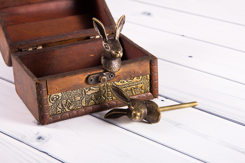 Ручка мебельная металлическая - кролик, арт. 000814