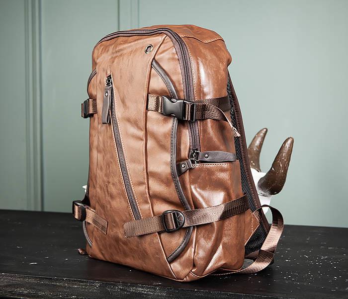 BAG483-2 Повседневный мужской кожаный рюкзак фото 03