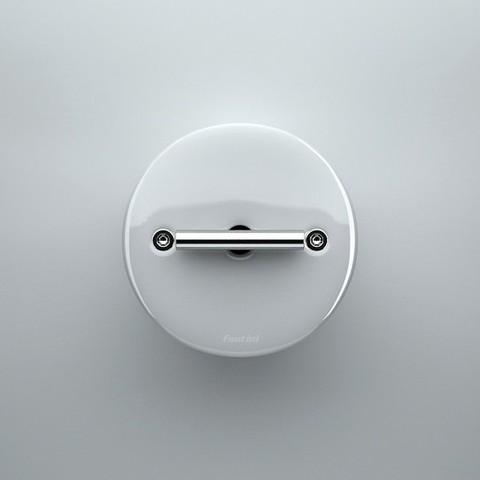 Выключатель/переключатель поворотный, промежуточный(перекрёстный, схема 7) 10 А, 250 В~. Цвет Белый. Fontini DO(Фонтини До). 33304172