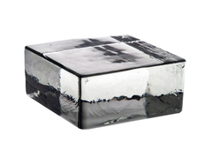 Кирпич стеклянный Vetropieno neutro половинка 120х11,7х5,3 см.
