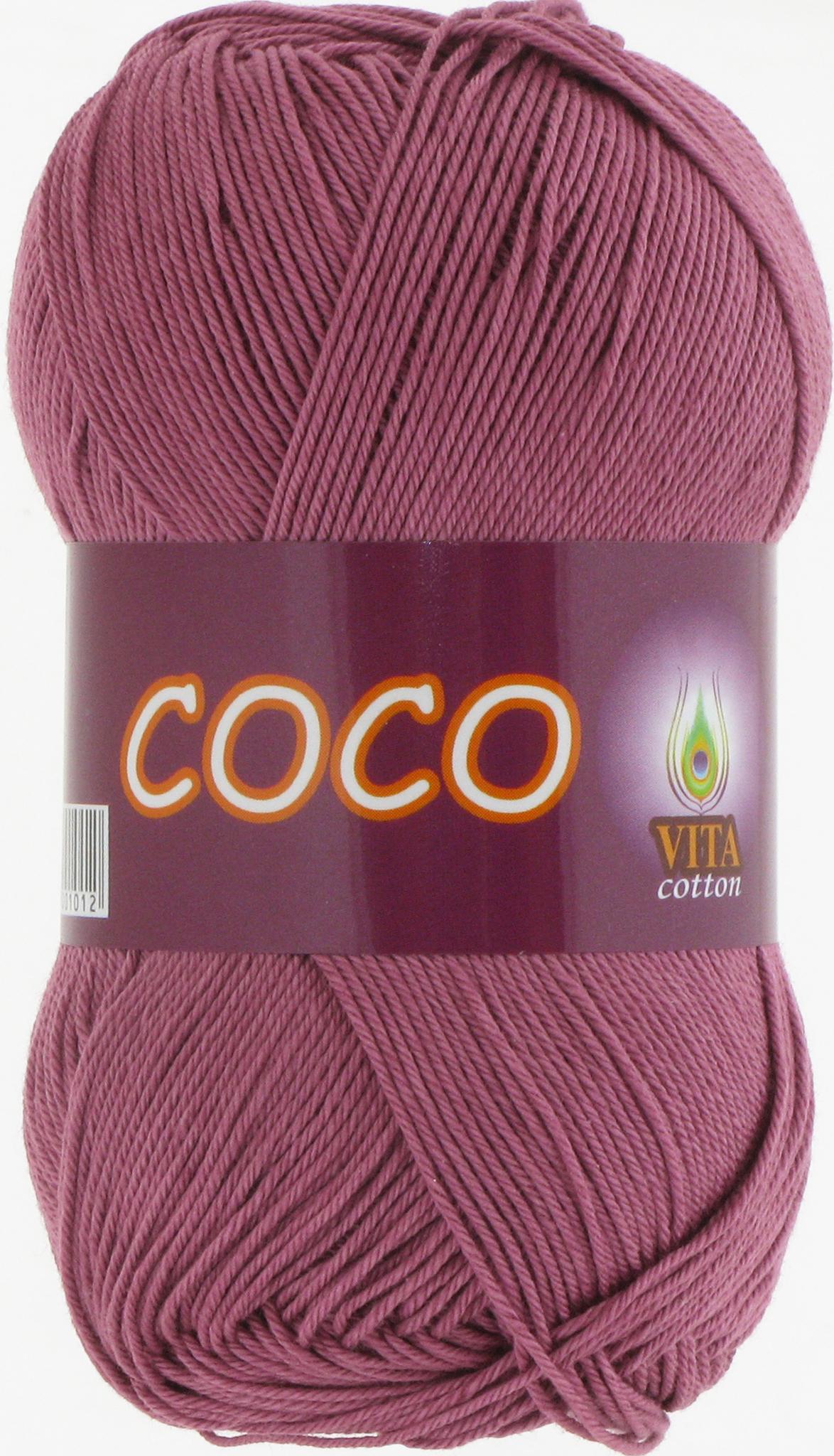 Пряжа Vita Coco 4326 дымчато-розовый