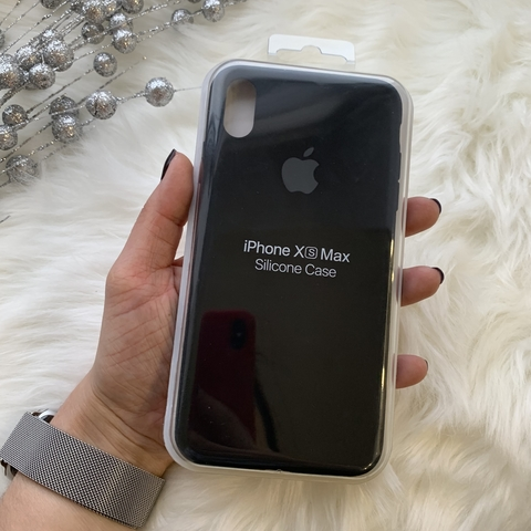 Чехол iPhone XS Max Silicone Slim Case /black/