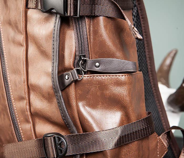 BAG483-2 Повседневный мужской кожаный рюкзак фото 04