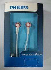 Наушники вакуумные Philips 7100 white-red