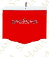 Тумба подвесная SanMaria Марсель-75, 1 ящик, красная