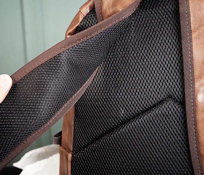 BAG483-2 Повседневный мужской кожаный рюкзак фото 06