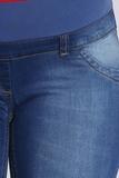 Джинсы для беременных (SLIM) 08589 синий