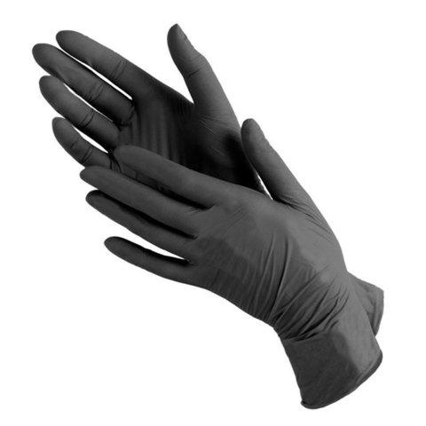 *Перчатки смотровые диагностические (Safe&Care/нитриловые/черные/M/100шт/601-775/LN)