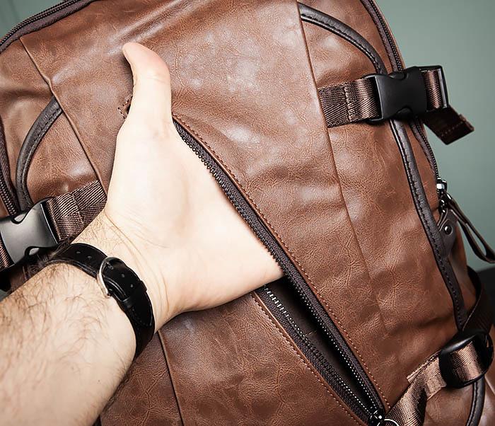 BAG483-2 Повседневный мужской кожаный рюкзак фото 07