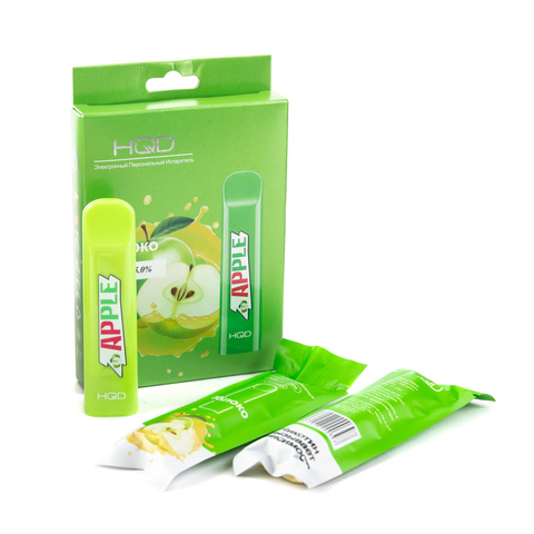 Одноразовая электронная сигарета HQD Cuvie Apple (Яблоко) 1 шт