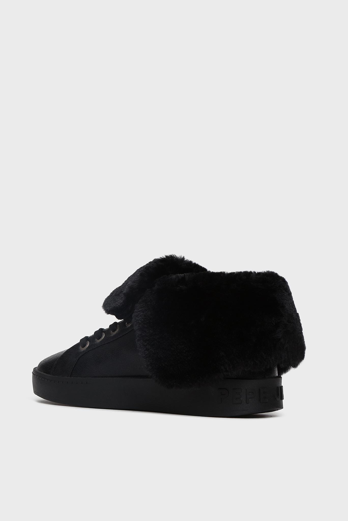 Женские черные хайтопы BRIXTON FLAP Pepe Jeans