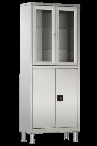Шкаф медицинский двухстворчатый с ригельным замком МСК - 5647.12 - фото