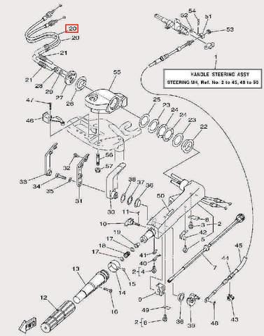 Трос газа для лодочного мотора F9,9 Sea-PRO (17-20)