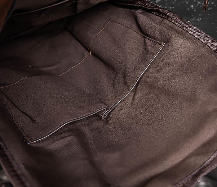 BAG483-2 Повседневный мужской кожаный рюкзак фото 09