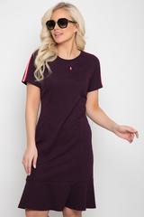 """<p>Стиль """"Casual"""" - динамичный стиль большого города. Практичный, простой и лаконичный стиль для девушек, предпочитающих удобство и функциональность в одежде. Платье из трикотажного полотна модного кроя с модными лампасами по рукавам.(Длины: 44-93см;46-94см;48-94см;50-95см;52-95см)&nbsp;</p>"""