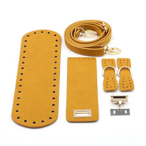 """Комплект для сумки с клапаном из экокожи """"Светло-коричневый"""""""