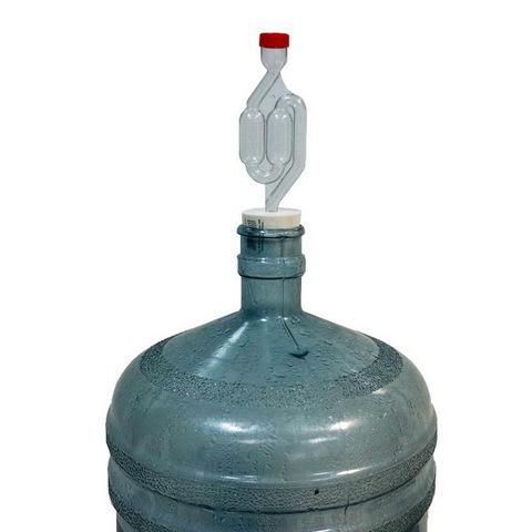 Гидрозатвор S-образный с уплотнительной пробкой