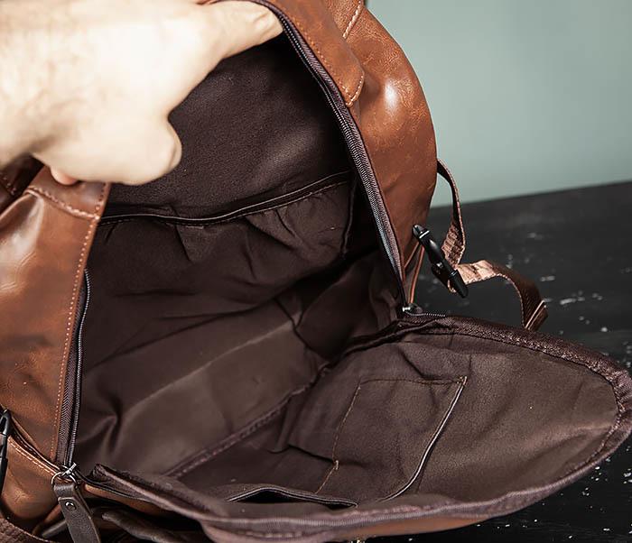 BAG483-2 Повседневный мужской кожаный рюкзак фото 10