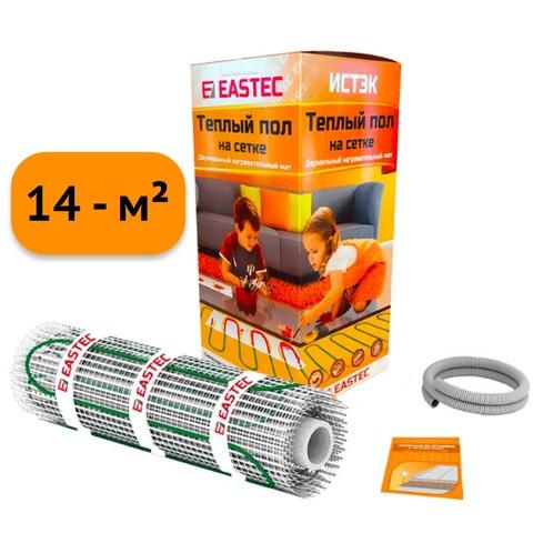 Электрический теплый пол под плитку. Нагревательный мат Eastec ECM - 14.0. (14 кв.м/1920W). EASTEC ECM - 14,0