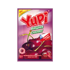 Растворимый напиток Yupi Вишня 15гр. (блок 24 шт)