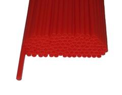 Трубочки полимерные для шаров, флагштоков и сахарной ваты Красные (100 шт), диаметр 5 мм, длина 370 мм
