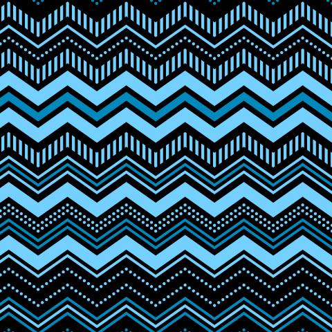Синие зигзаги